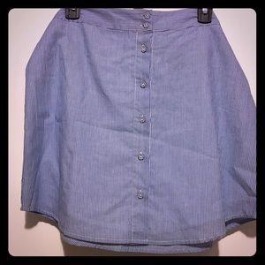 ⭐️ Naked Zebra Blue & White Pinstripe Wrap Skirt L